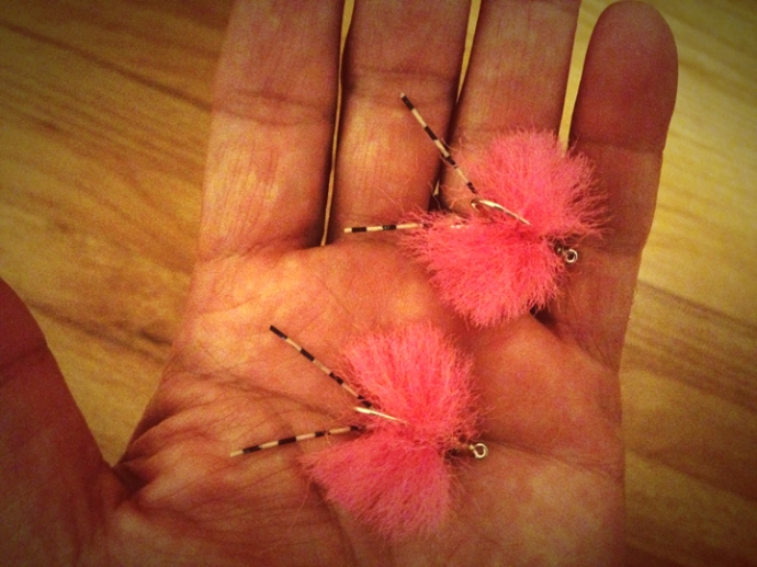 a few pink merkins tied by Al Q.