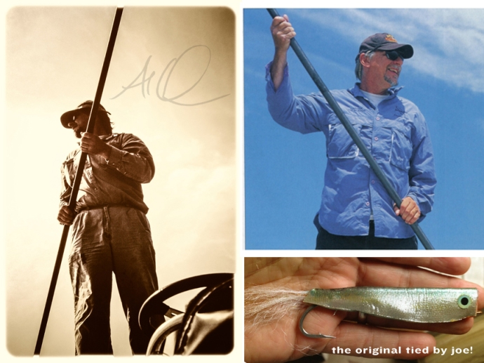 top left: photo by Al Q, top right: photo courtesy of joe blades. bottom right: one of the original crease flies given to me by Capt. Joe.