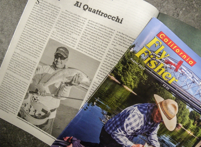 the August edition of California Fly Fisher just hit the streets. photo by AL Quattrocchi