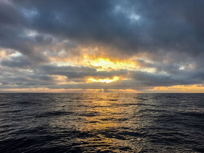 leaving the harbor and looking to the east was a glorious sunrise. Photo by Al Quattrocchi