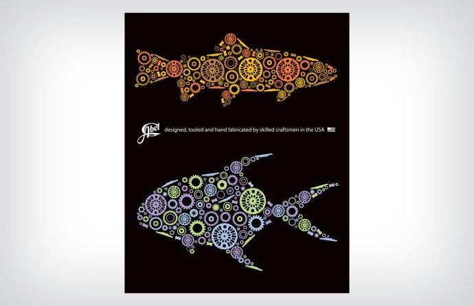Abel Reels fish gear graphic