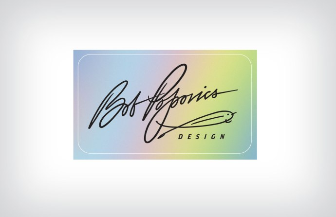 Personal signature designed for Bob Popovics.