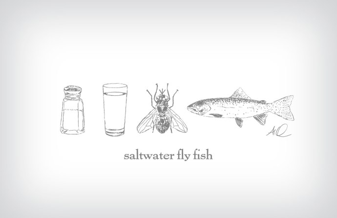 Saltwater Fly Fishing ©2015 Art by Al Quattrocchi