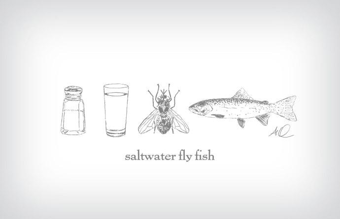 Saltwater Fly Fishing ©2015 Art by Al Quattrocchi