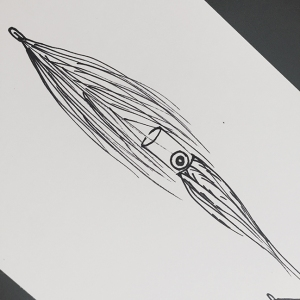 original sketch for the RF Squid by Al Q