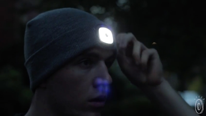 the X-Cap a rechargeable light hat...