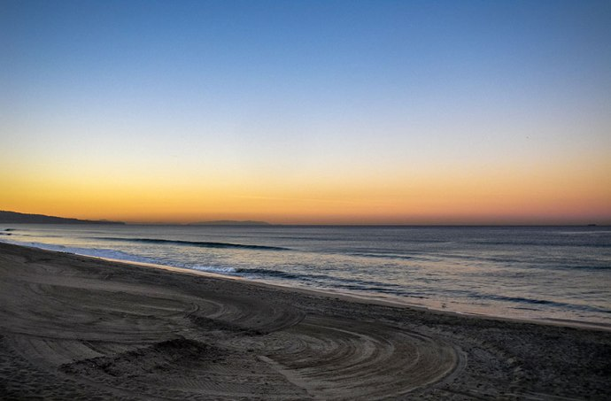 A beautiful morning on the beach at El Porto. Photo by Al Q