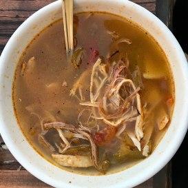 A local favorite, lime soup. Photo by Al Quattrocchi