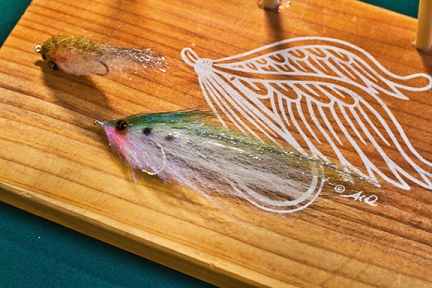 quick sardine fly made with EP brush. photo by Graham Day